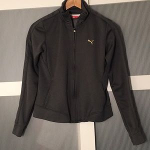 Puma Gray Zip Up Hoodies Jacket Extra Small